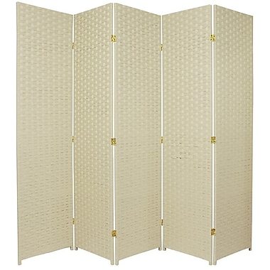 Oriental Furniture 71'' x 85'' 5 Panel Room Divider