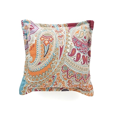 Wildon Home Paisley Cotton Throw Pillow