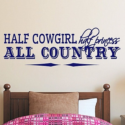 SweetumsWallDecals Half Cowgirl Wall Decal; Navy