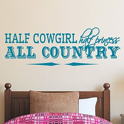 SweetumsWallDecals Half Cowgirl Wall Decal; Teal