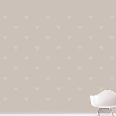 SweetumsWallDecals Hearts Wall Decal; Beige