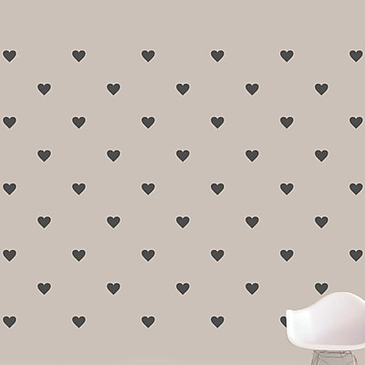 SweetumsWallDecals Hearts Wall Decal; Dark Gray