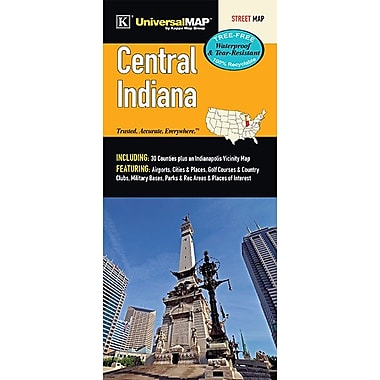 Universal Map Indiana Central Regional Laminated Map