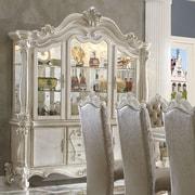 A&J Homes Studio Versailles China Cabinet; Bone White