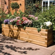 Rowlinson 6.5 ft. x 1.5 ft. Wood Planter Box