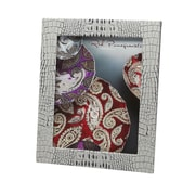 Red Pomegranate Picture Frame; Grey