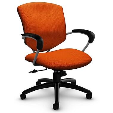 Supra Mid Back Tilter, 'Terrace - Tigerlily' Fabric, Orange
