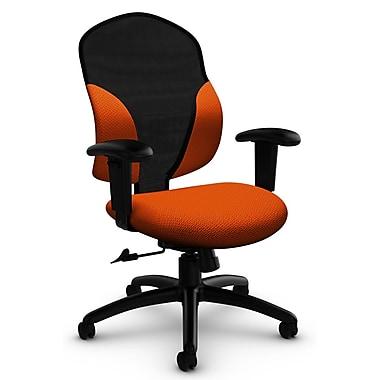 Tye Mid Back Tilter, 'Terrace - Tigerlily' Fabric, Orange