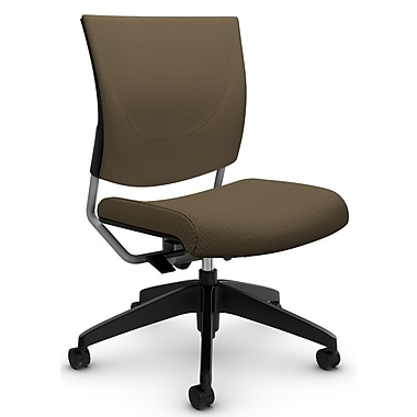 Graphic Med Back Posture Chair, 'Terrace - Haze' Fabric, Tan (2737 TC67)