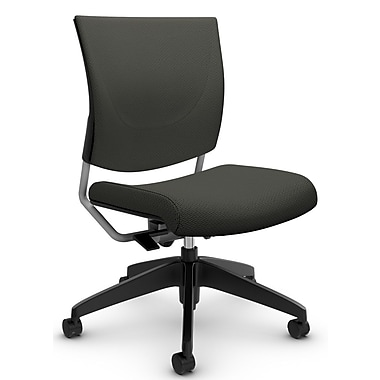 Graphic Med Back Posture Chair, 'Terrace - Ironwork' Fabric, Grey (2737 TC71)