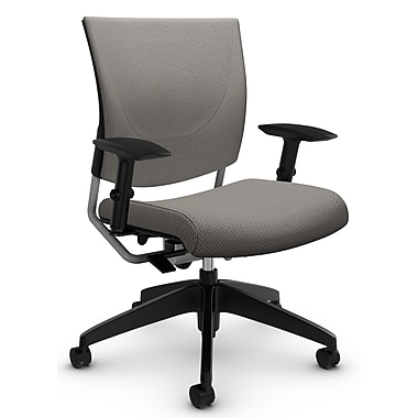 Graphic Med Back Posture Chair, 'Terrace - Cobble' Fabric, Grey (2739 TC63)