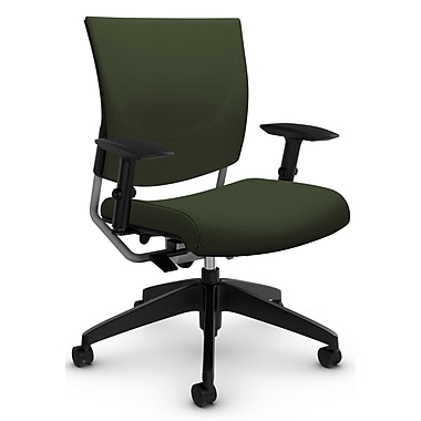 Graphic Med Back Posture Chair, 'Terrace - WinterGreen' Fabric, Green (2739 TC70)
