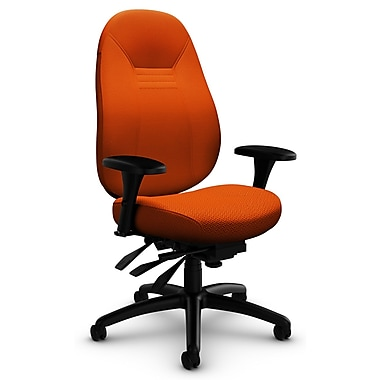 ObusForme Comfort MB Multi-Tilter, 'Terrace - Tigerlily' Fabric, Orange