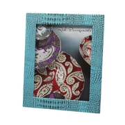 Red Pomegranate Picture Frame; Turquoise