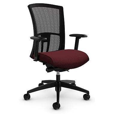 Vion HB Synchro-Tilter w/Back Angle Adj, 'Terrace - Cerise' Fabric, Red