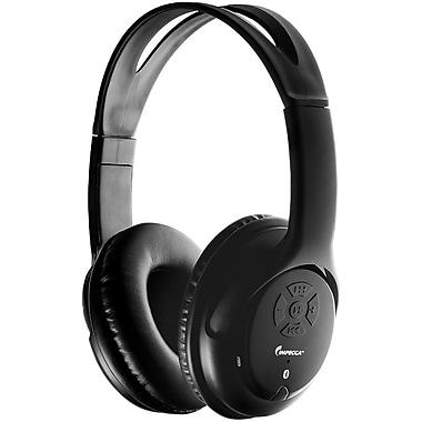 Impecca - Casque d'écoute stéréo Bluetooth avec fente micro SD pour lecteur de musique, noir