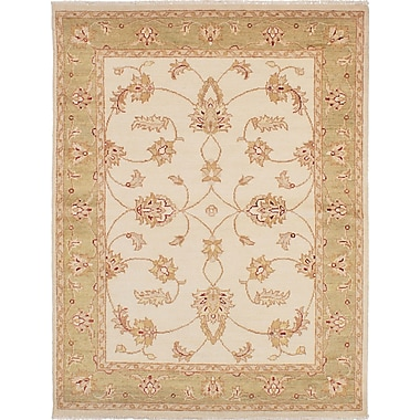 ECARPETGALLERY Chubi Collection Hand-Knotted Cream Area Rug