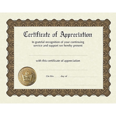Great Papers® Appreciation Stock Foil Certificate, 11