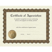 "Great Papers® Appreciation Stock Foil Certificate,  11"" x 8.5"", 6/Pack (93000)"