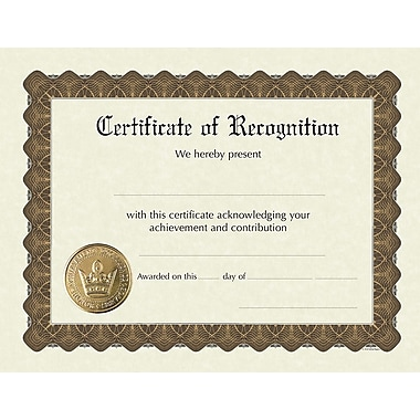Great Papers® Recognition Stock Foil Certificate, 11