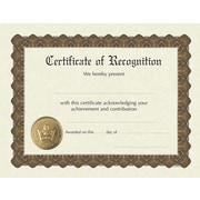 "Great Papers® Recognition Stock Foil Certificate, 11"" x 8.5"", 6/Pack (930200)"