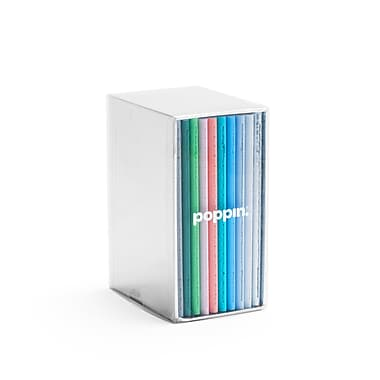 Poppin, Assorted Pastels, Soft Cover Mini Notebooks, Set of 10 (104452)