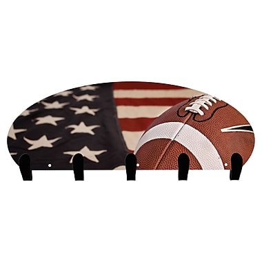 Next Innovations USA Football 5 Hook Coat Rack