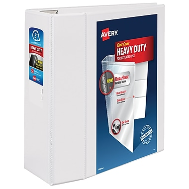 Avery One Touch EZD 5-Inch D 3-Ring View Binder, White (79-706)