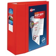 "5"" Avery® Heavy-Duty View Binders with One Touch™ EZD® Rings,Red"