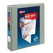 Avery® Heavy-Duty View Binder with Locking EZD™ Rings, 11 x 8 1/2, View, Each (79405)