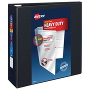 Avery Heavy-Duty 4-Inch Slant D 3-Ring View Binder, Black (79-604)