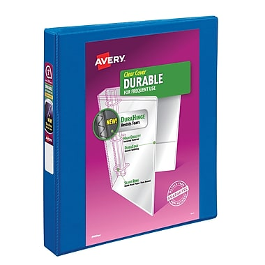 Avery Durable 1-Inch 3-Ring View Binder, Navy Blue (17014)
