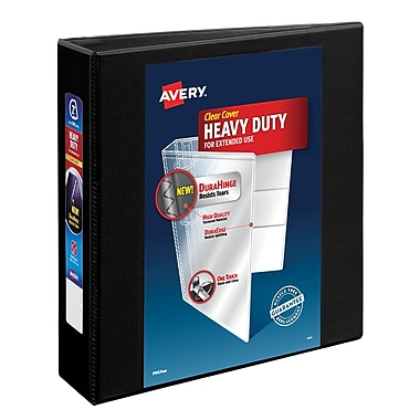 Avery Heavy-Duty 2-Inch D 3-Ring View Binder, Black (79-692)