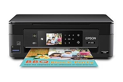 Epson® Expression® XP-440 Color Inkjet Multifunction Printer (C11CF27201)