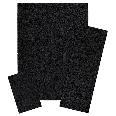 Maples Rugs Claire 3 Piece Black Area Rug Set