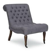 Opulence Home Braxton Armless Tufted Slipper Chair; Samantha Gray