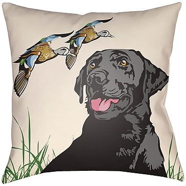 Artistic Weavers Lodge Cabin Hound Throw Pillow; 20'' H x 20'' W