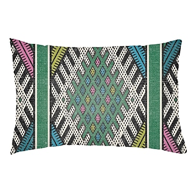 Artistic Weavers Lolita Pratt Indoor/Outdoor Lumbar Pillow; Kelly Green/Lime Green