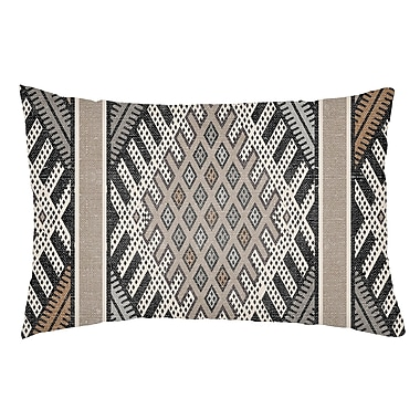Artistic Weavers Lolita Pratt Indoor/Outdoor Lumbar Pillow; Gray/Light Gray