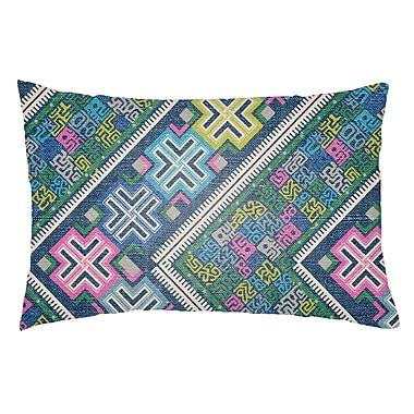Artistic Weavers Lolita Daffodil Indoor/Outdoor Lumbar Pillow; Royal Blue/Fuchsia
