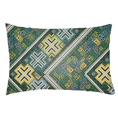 Artistic Weavers Lolita Daffodil Indoor/Outdoor Lumbar Pillow; Kelly Green/Teal
