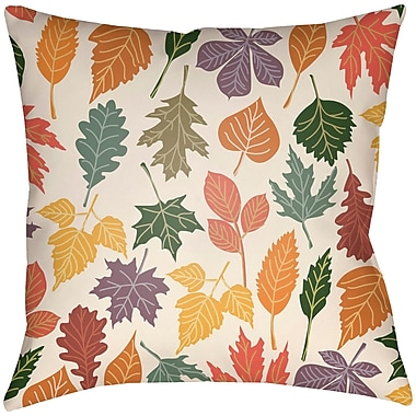 Artistic Weavers Lodge Cabin Foliage Indoor/Outdoor Throw Pillow; 16'' H x 16'' W