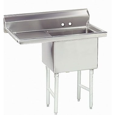 Advance Tabco Economy 45'' x 29.75'' Single Fabricated Bowl Scullery Sink