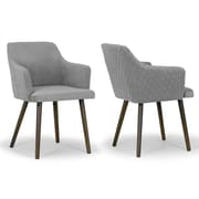 Glamour Home Decor Albany Arm Chair (Set of 2)