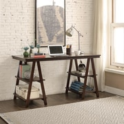 Homestyle Collection Sawhorse Open Architecture Writing Desk
