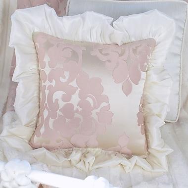 Blueberrie Kids Blush Petal Ruffle Throw Pillow