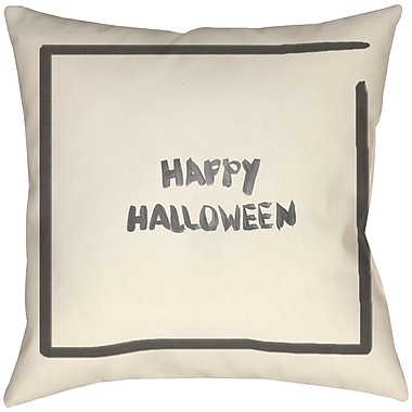 Artistic Weavers Lodge Cabin Halloween Throw Pillow; 16'' H x 16'' W