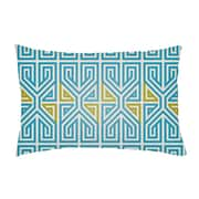 Artistic Weavers Lolita Poppy Indoor/Outdoor Lumbar Pillow; Teal/Aqua