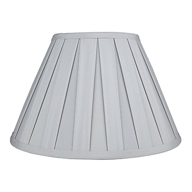 Urbanest Softback 12'' Faux Silk Empire Lamp Shade; Light Gray