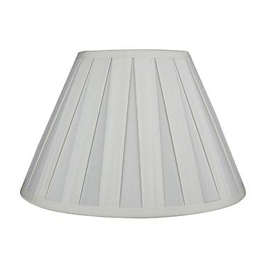 Urbanest Softback 12'' Faux Silk Empire Lamp Shade; Eggshell